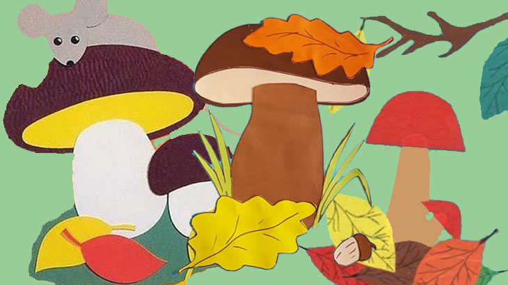 """Коллаж """"грибы"""""""