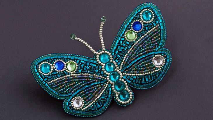 Брошка-бабочка