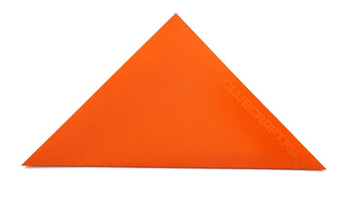 Квадрат сложен по диагонали