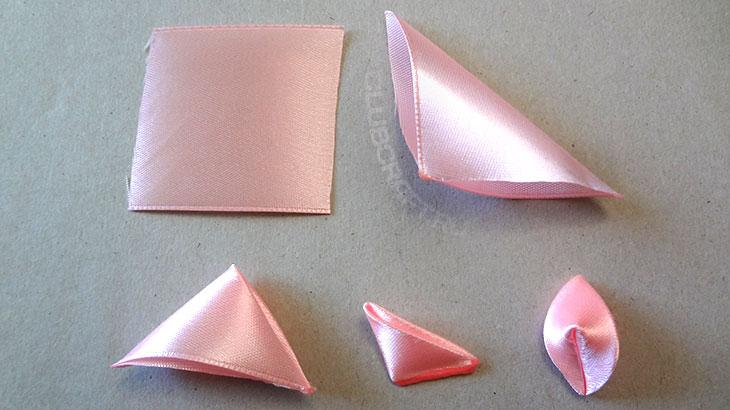 Сборка розовых лепестков