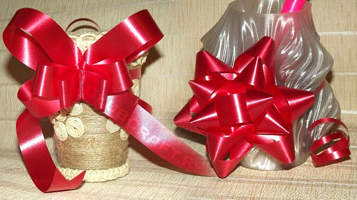 Два способа как сделать бантик из бумаги, для украшения подарка