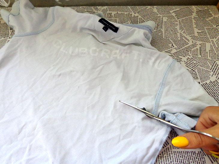 Режем футболку