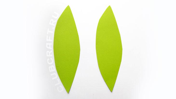 Бумажные листья тюльпана