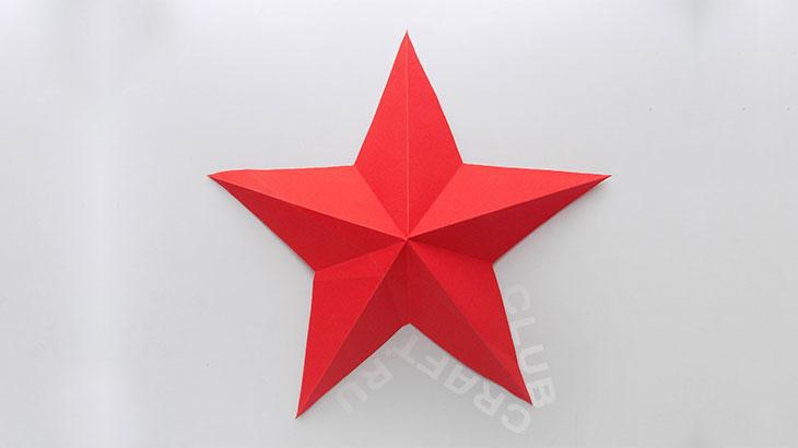 Объёмная звезда своими руками
